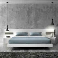 Antique White Modern Bed