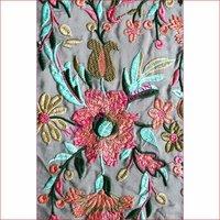 Multi thread embroidery work