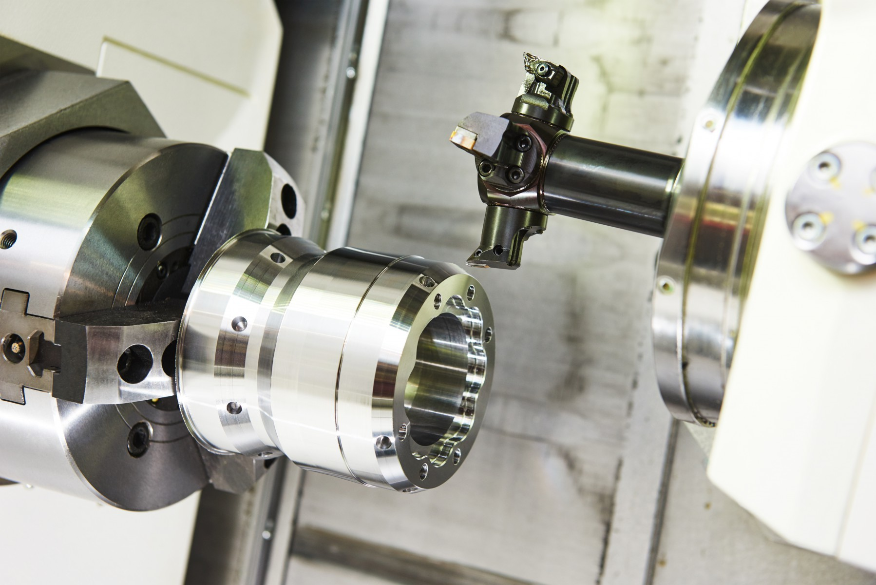 100mm Spindle Hole Ball Cutter Lathe Machine