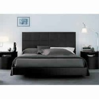 Black Wooden Bed
