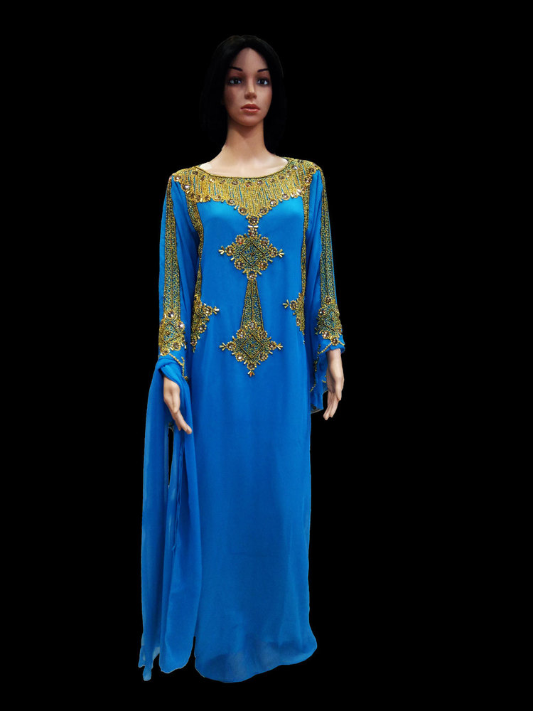 Ladies Kaftan for woman with Blue Color