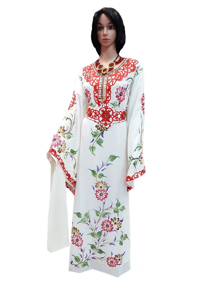 Floral Design Ladies Kaftan
