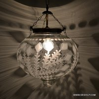 Pendant Hanging Ceiling Lamp Glass Shade