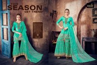 Embroidery work sharara suits