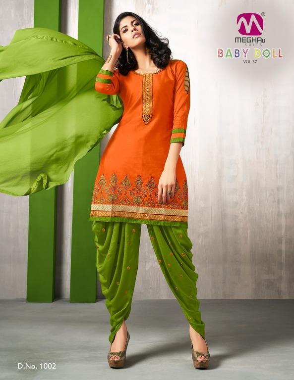 Fancy cotton patiala suits