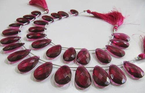 Super Fine Quality Rubellite Pink Quartz Pear Shape