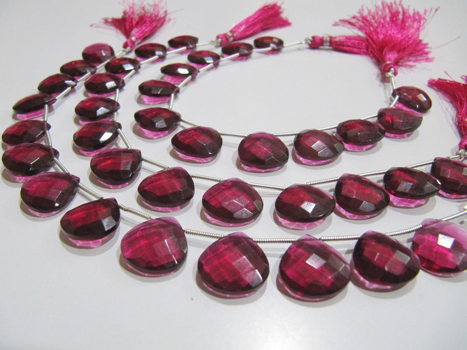 AAA Super Fine Quality Rubellite Pink Quartz Heart Shape