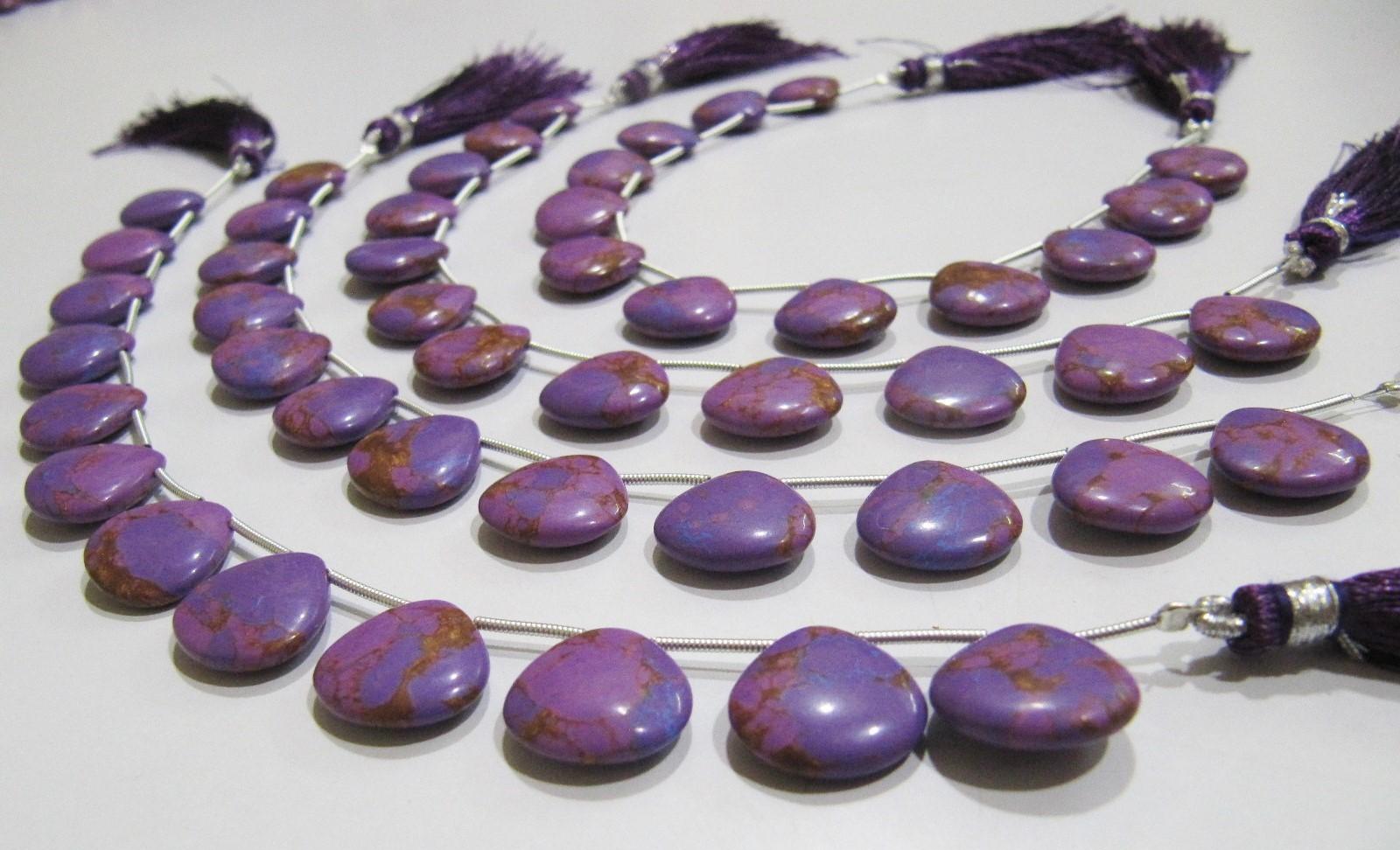 AAA Quality Purple Copper Tourquoise Heart Shape Plain beads
