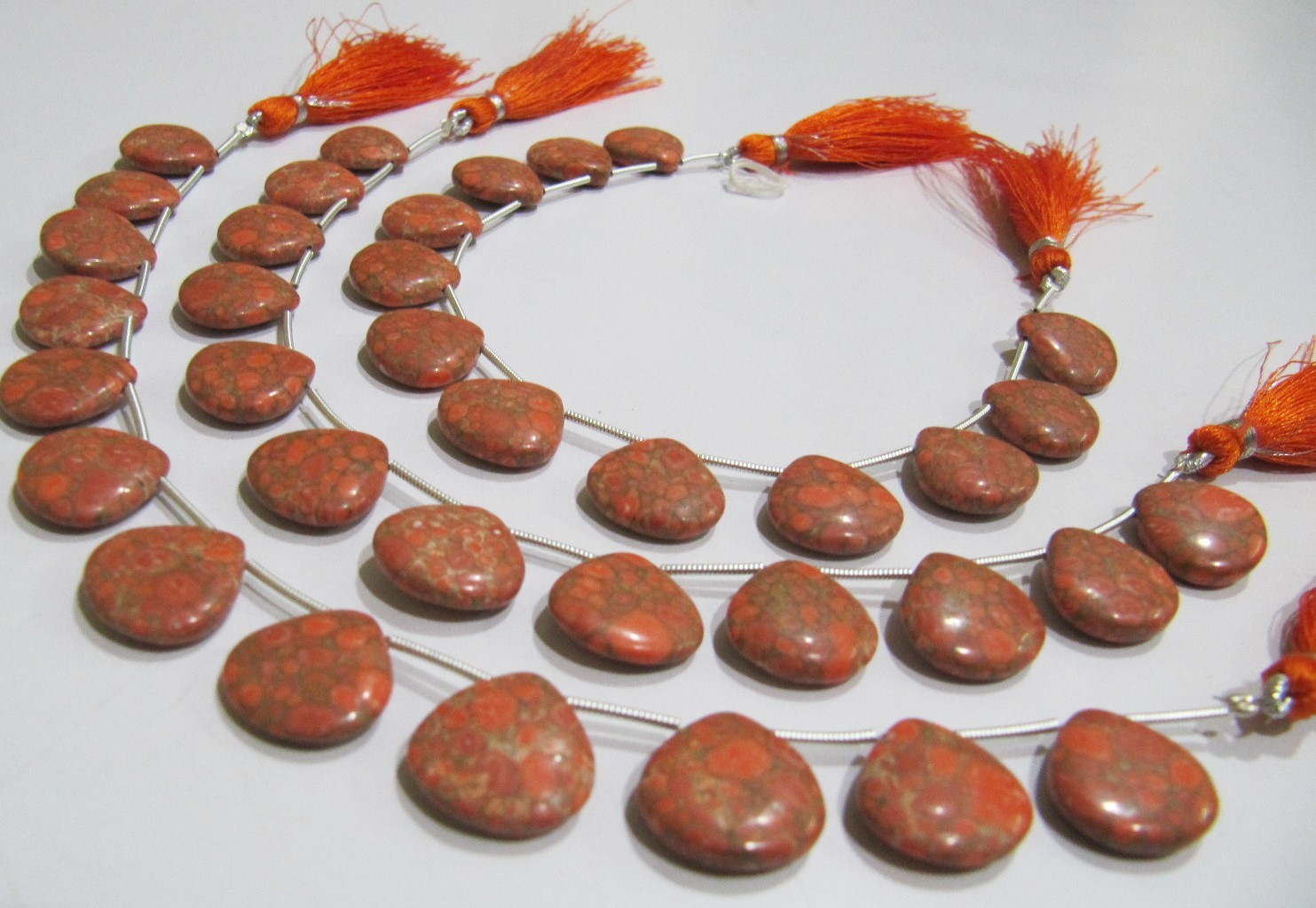 AAA Quality Orange Copper Tourquoise Heart Shape