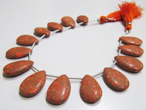 AAA Quality Orange Copper Tourquoise Pear Shape beads