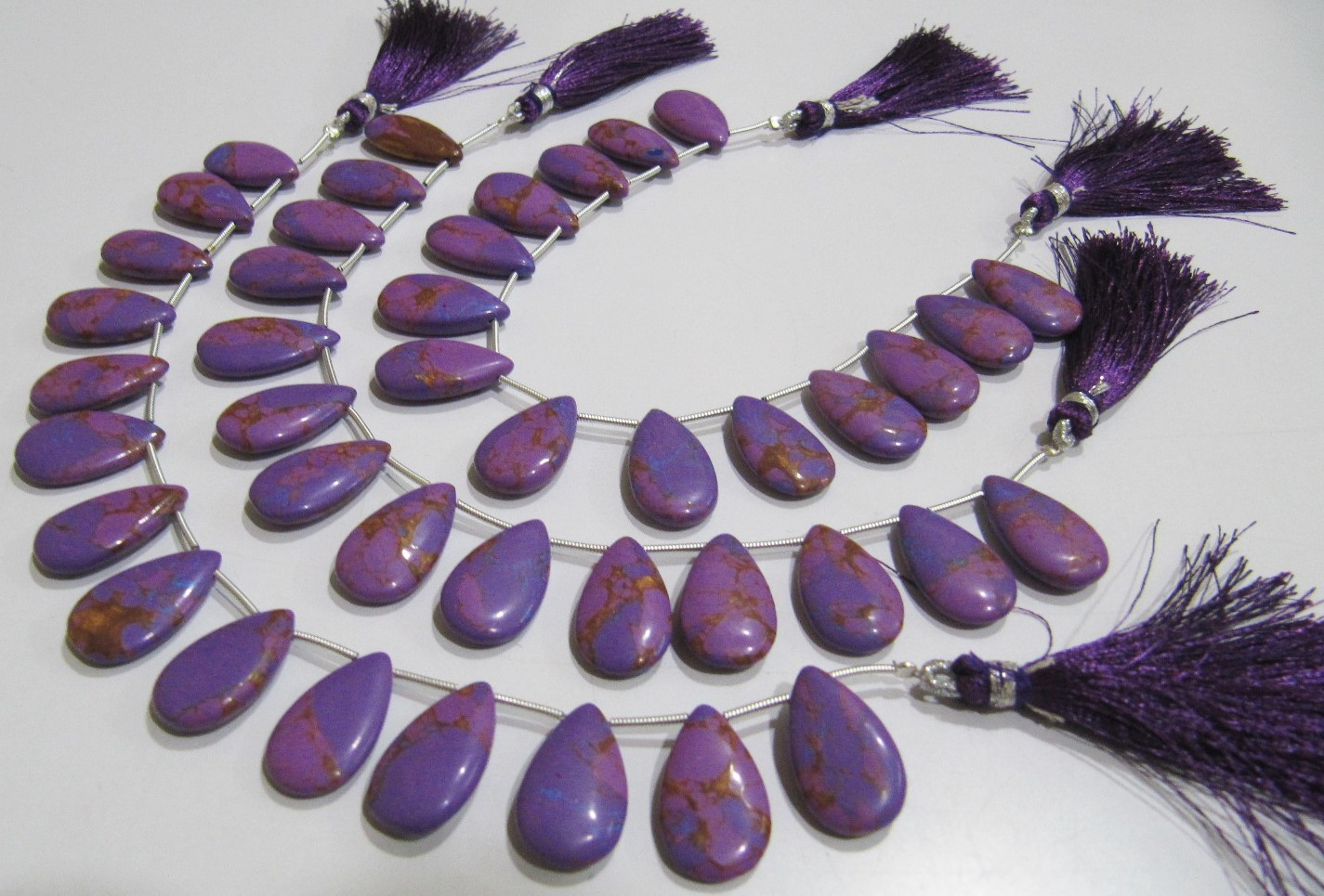 AAA Quality Purple Copper Tourquoise Pear Shape beads