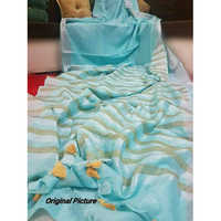 Ladies Linen Plain Saree