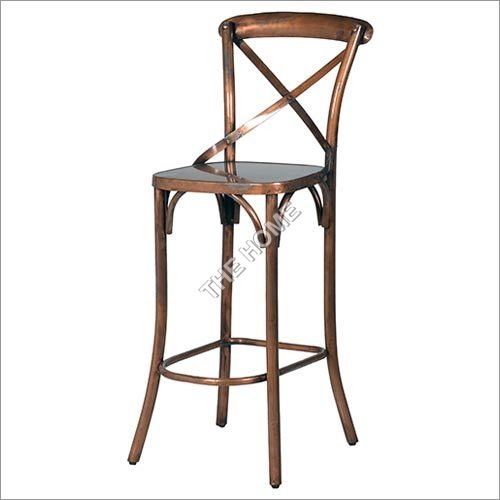Cross Back Bar Chair Copper