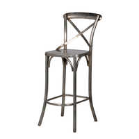 Cross Back Bar Chair Nicle