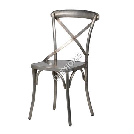 Cross Back Chair Nickle
