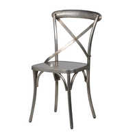 Cross Back Chair Nickle