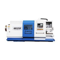QK1219 Horizontal Pipe Threading cnc Lathe For Metal Cutting