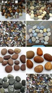 natural river pebble stone and river chips