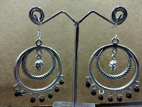 Black Oxidised Earrings