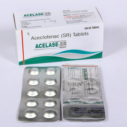 Aceclofenac 200mg  Sustained  Release Tablet