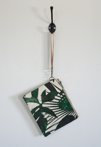 tropical printed pouch