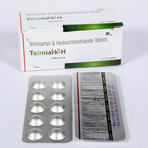 Telmisartan 40mg+  Hydrochlorothiazide 12.5 mg Tablet