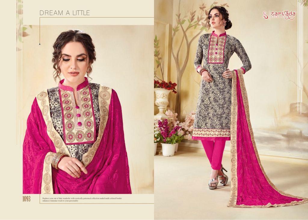 Cotton Dupatta Suit Material