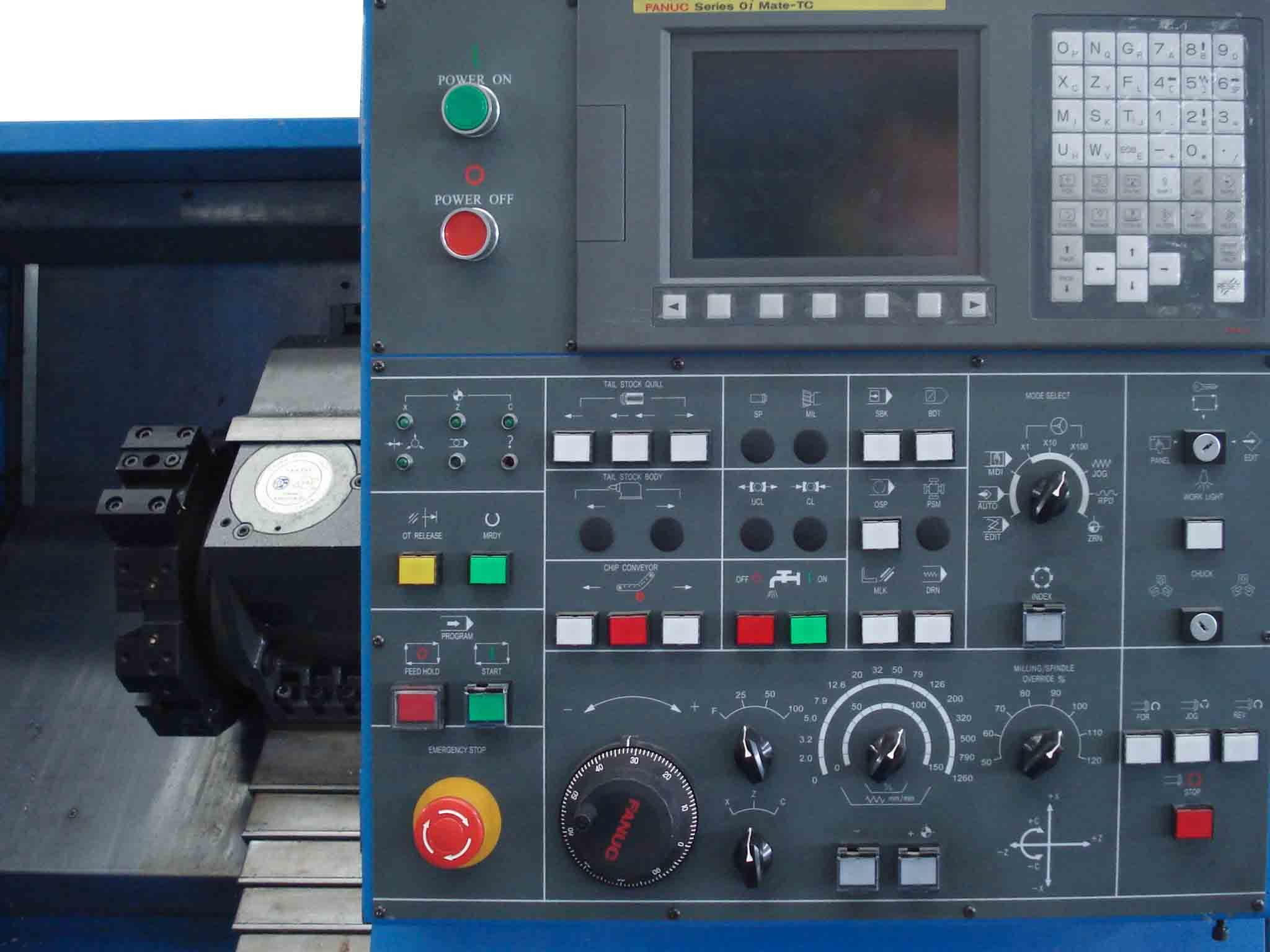 CNC lathe slant bed for metal working with funuc gsk control