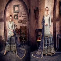Heavy work Pakistani style sharara suit online