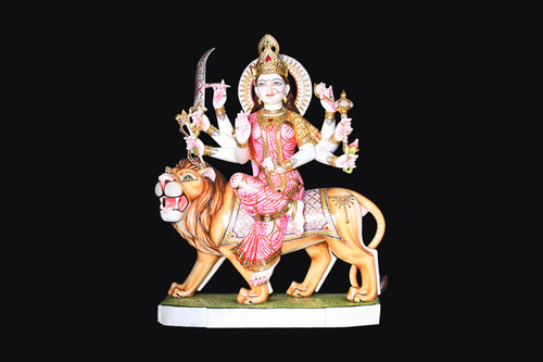 Marble Durga Statues