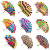 Hand Embroidered Multi Colorful Umbrella
