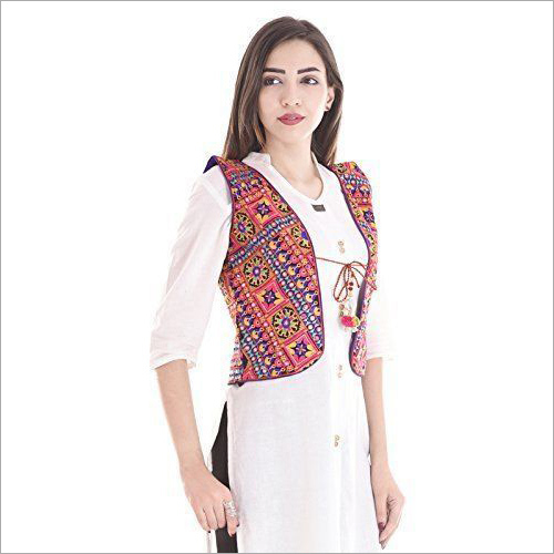 Hand Embroidered Gujarati Koti Jacket