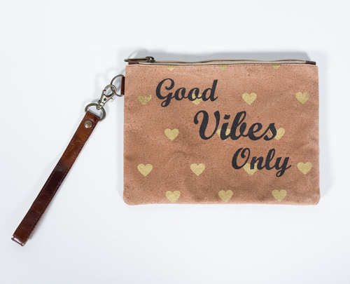 canvas pouch good vibes