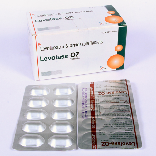 Levofloxacin 250 mg + Ornidazole 500 mg  Tablet