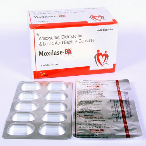 Amoxycillin 250mg + Dicloxacillin 250mg + Lactic Acid Capsule