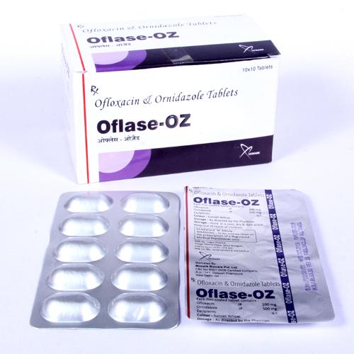 Ofloxacin 200mg + Ornidazole 500mg Tablet