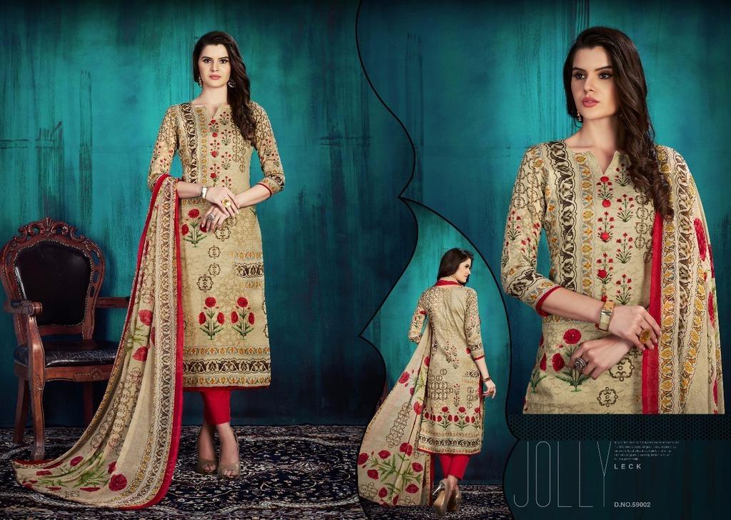 Cotton Ladies Printed Suit Materials