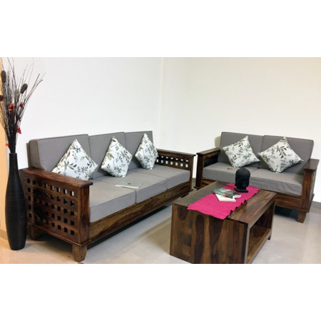 Sheesham Wood Designer Sofa Set