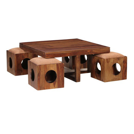 Square Shape Wooden Coffee Table