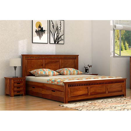 Fallon Storage King Size Wooden Double Bed