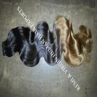 Wavy Ombre Colored Indian Human Hair Weave