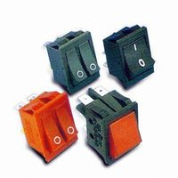 Rocker Paddle Switch with 3 to 15A Circuit Protection and Overload Button