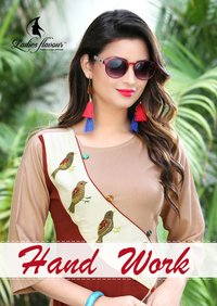 New Concept Of Rayon & Manual Hand Work Kurtis Collection