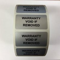 warranty void labels