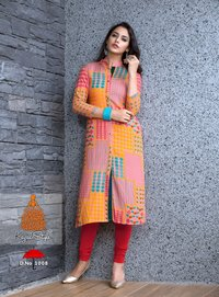 Kajal Style Designer Rayon Kurtis Collection