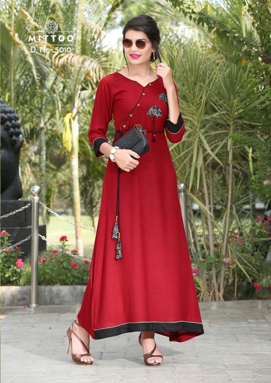 1dea6edf4e5 Mittoo Prachi Kurti Wholesale Catalog 4 Pcs - Mittoo Prachi Kurti ...