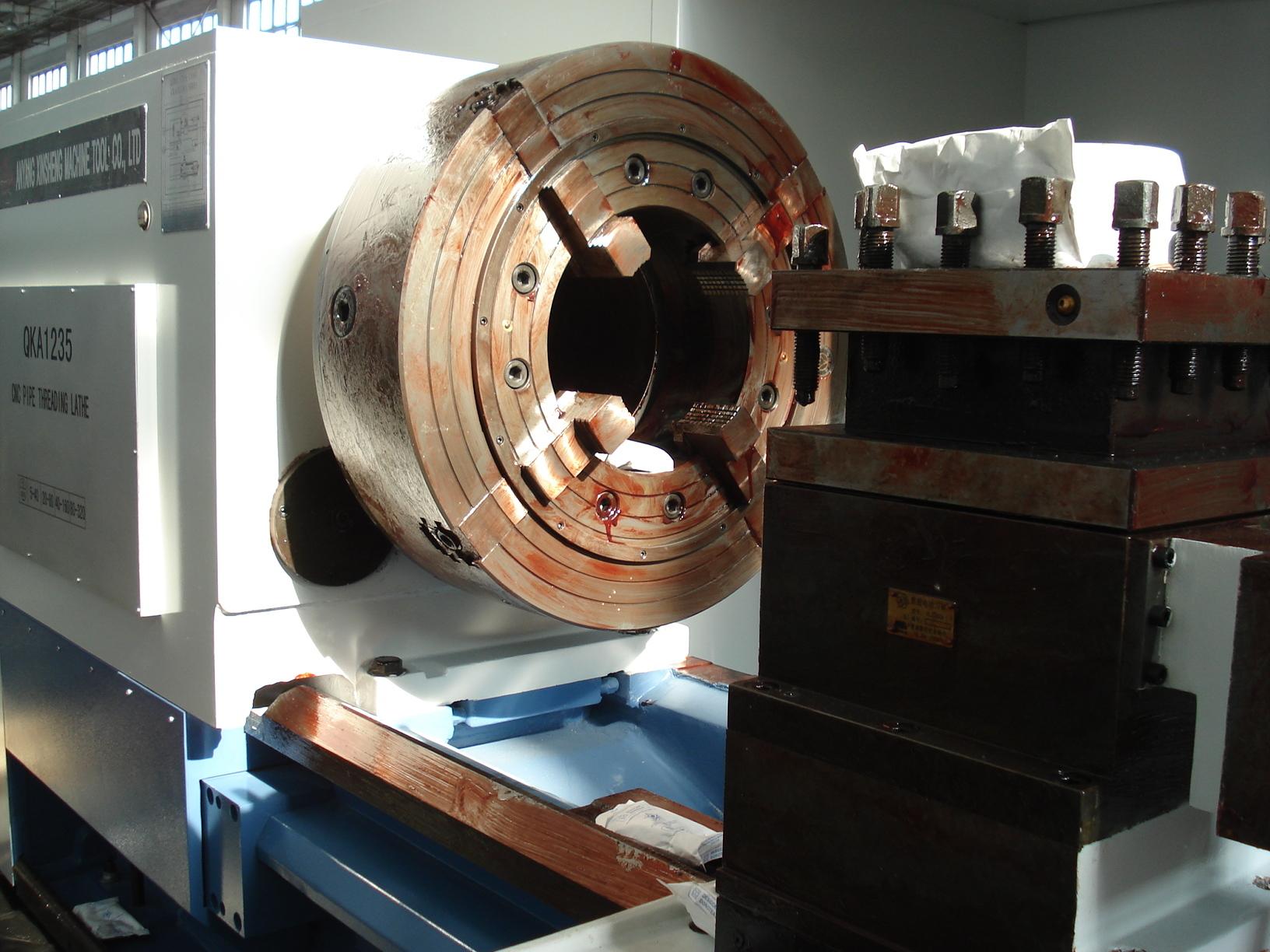 Horizontal heavy duty cnc lathe machine made in china price