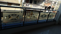 Etching Glass Railing