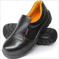Elastic Black Safety Shoes