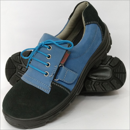 Mens Elastic Blue Safety Shoes